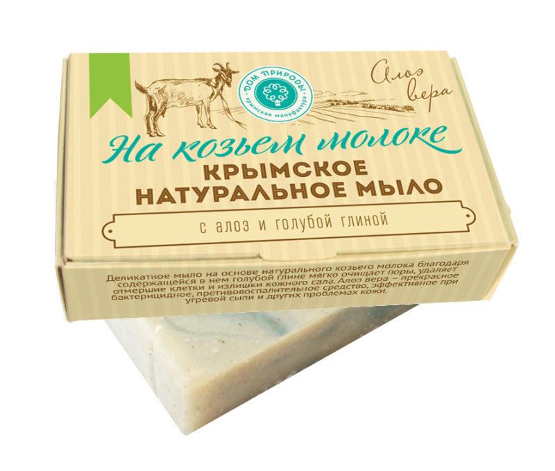 мыло на козьем молоке АЛОЭ ВЕРА, 100г