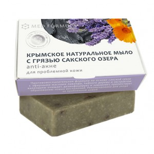 Мыло «Anti-акне» содержит лечебную грязь