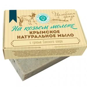 """мыло на козьем молоке """"Целебная грязь"""", 100г"""