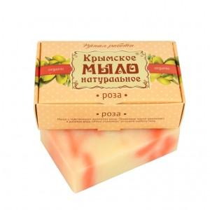 Крвмское мыло РОЗА на оливковом масле, 100г