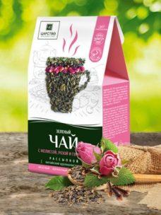 чай зеленый роза, мелисса и гвоздика